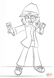 rex goodwin from yu gi oh coloring page free printable coloring