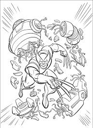 wolverine destroy evil robot coloring pages superheroes