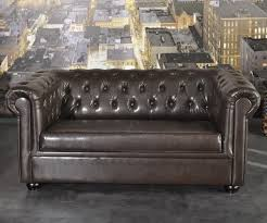 sofa chesterfield 160x90 cm in braun style it like uk für dich