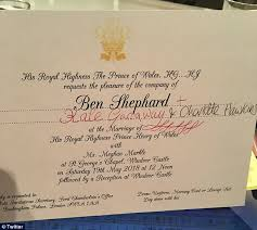 royal wedding invitation morning britain s ben shephard has an invite to royal