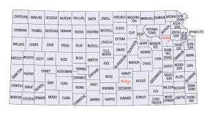map of counties in kansas kansas aerial photography