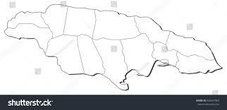 Map Jamaica Map Jamaica Stock Vector 426507463 Shutterstock