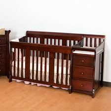 White Crib And Changing Table Combo 4 In1 Crib Changer Combo In Cherry 04586 474