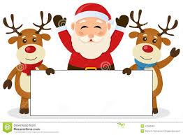 cute santa and reindeer clipart clipartxtras