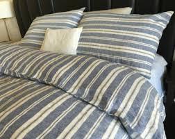navy and white ticking stripe duvet cover striped linen