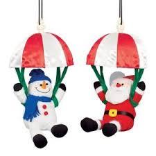 premier musical parachuting santa or snowman