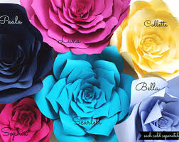Paper Flowers Video - paper flower templates include video instructions diy paper