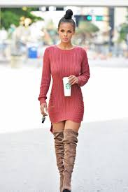 sweater dress and sweater dress with boots everything fashion