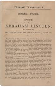 the speech that won lincoln new york the