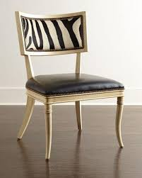 Zebra Dining Chairs Black Zebra Leather Dining Chair