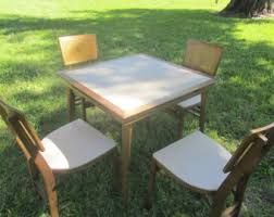 Stakmore Folding Chairs Vintage Vintage Card Table Chairs Etsy