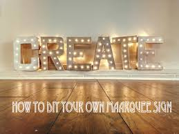 diy make your own marquee sign for your wedding lauren fair