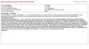 laborer canvas shop cover letter