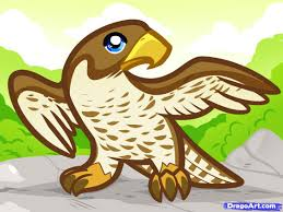 how to draw a falcon for kids step by step animals for kids for