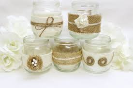 wedding table decorations candle holders burlap mason jar western wedding decorations burlap flowers tea
