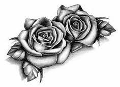 2 roses tattoodesign by drawing just drawings