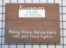 return address labels with your cricut explore right
