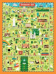 Map Of Savannah Ga Illustrated Map Maker U2014 Nate Padavick