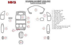 hyundai accent 2000 parts hyundai accent 1998 2002 premium dash trim kit r hdi 12a