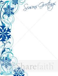 snowflake border and seasons greetings christian christmas borders