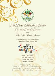 Custom Made Invitation Cards Endearing Belize Children U0027s Trust Charity Gala Custom Made