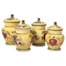 italian kitchen canisters italian canister set ebay