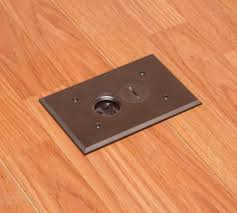 arlington flbr101br 1 floor electrical box kit with outlet and