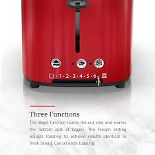 Toaster With Clear Sides Retro Style 2 Slice Toaster Red U0026 Stainless Steel Russell Hobbs