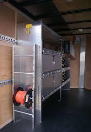 V Nose Enclosed Trailer Cabinets by Enclosed Trailer Shelving U0026 Storage Ranger Design