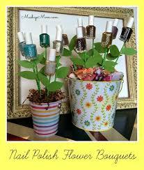 easter pails easy diy nail flower bouquet easter basket idea