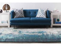 Teal Living Room Rug by Abstract Area Rugs Luxedecor