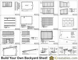 Diy Lean To Storage Shed Plans by 16x24 Lean To Shed Plans Large Lean To Shed Plans