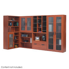 sauder library bookcase apres modular storage open bookcase safco products