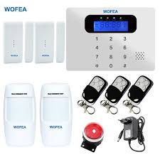 wofea thin touch gsm alarm systems android ios app alarms