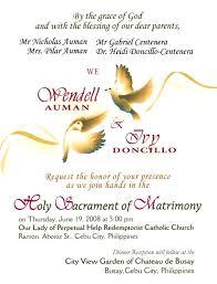 wedding invitations ni wedding invitation wording ideas philippines best of wedding