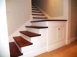basement stair ideas with storage under stairwell lighting steps