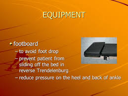 Footboard For Foot Drop The Patient In The O R Should In The O R Shouldnever Be Left