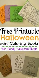 free printable halloween mini coloring books halloween coloring