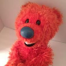 disney bear in the big blue house ojo plush orange teddy 20