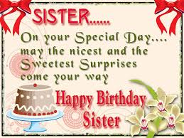 happy birthday cards for sisters with on your special day and cute