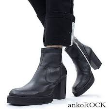 s boots with heels ankorock rakuten global market ankorock mousse leather heel