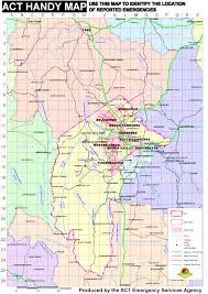 Grid Map Act Handy Map U2013 Act Emergency Services Agency