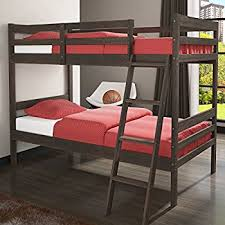 Amazoncom Donco Kids Econo Ranch Twin Over Twin Bunk Bed - Donco bunk beds