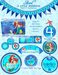 princess ariel mermaid party package including