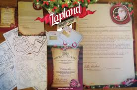 official letters from santa lapland mailroom children s personalised letter from santa
