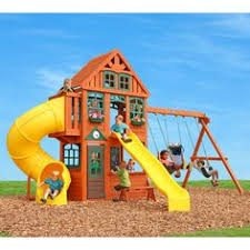 Amazon Backyard Playsets by Backyard Discovery Oceanview All Cedar Wood Playset Swing Set