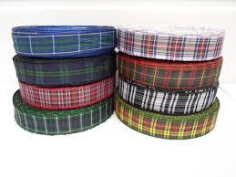 tartan ribbon 2 metres or 25 metres roll 12mm tartan ribbon sided
