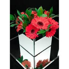 Mirrored Cube Vases Gerbera Mirror Cube Vases 0 00 Elli Cawse Floral Designs
