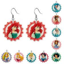 Children S Jewelry Aliexpress Com Buy Fashion Cartoon Princess Flatback Resin Drop
