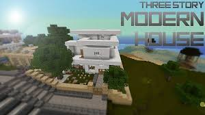 three story houses three story modern house minecraft project